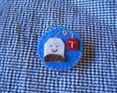 Teabag brooch