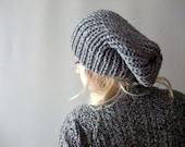Grey Slouchy Hat