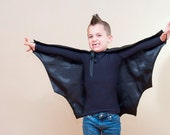 Handmade Child Cape Bat  Costume Scary Halloween Photo Prop Black - OriginalsbyLaurenToo