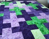 Patchwork Batik Quilt Cross and Dogwood  Design  Made for You - MurphysHouse