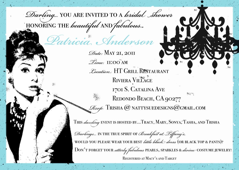 Breakfast at Tiffany's Bridal Invitations http://www.etsy.com/listing ...