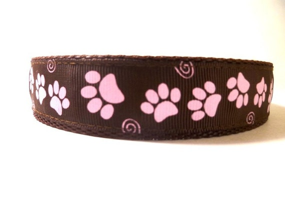 Dog Leash - Pink Paws