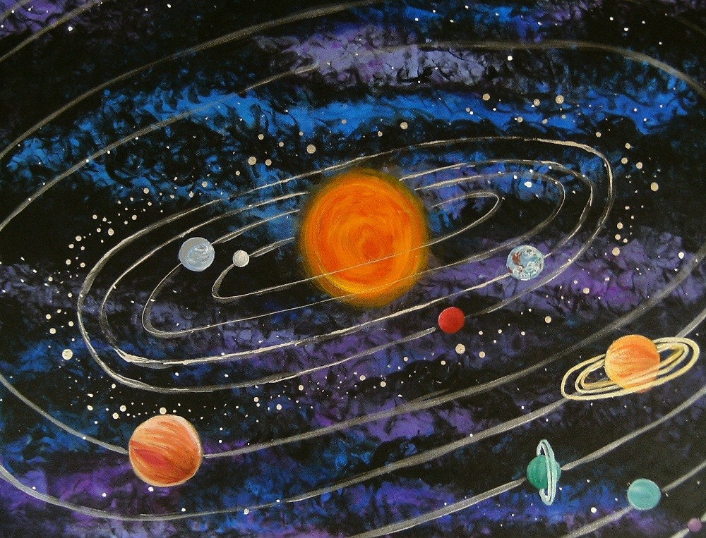 solar system wall painting pinterest - photo #20