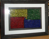 4 Mazes Bead Art - TheCraftyCuban