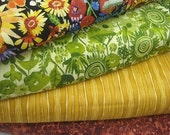 Fabric Bundle: My Sunshine Flower Garden Fat Qtr Bundle -  Total 1 Yd - FabricFascination