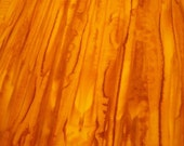 Batik: Orange Watercolor Stripe Tonga Batik  - 1 Yard - FabricFascination