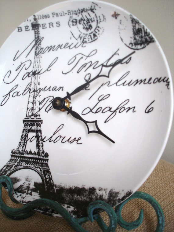 French Scenes Clock-A Vintage-Inspired Piece by burlap and blue