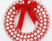 Peppermint Patty Candy  Wreath // Christmas Candy Wreath - WeLoveWreaths