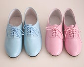 Pony oxfords flats in pastel tones (Handmade to order) - goldenponies