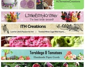 CIJ SALE Custom Etsy Shop Banner and Matching Avatar OOAK One of a Kind Digital - SimpleCleanDesigns