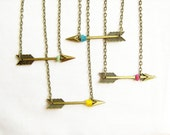 Hunter's Arrow Necklace - Artemis - Your choice Bronze Arrow Necklace - AlinaandT