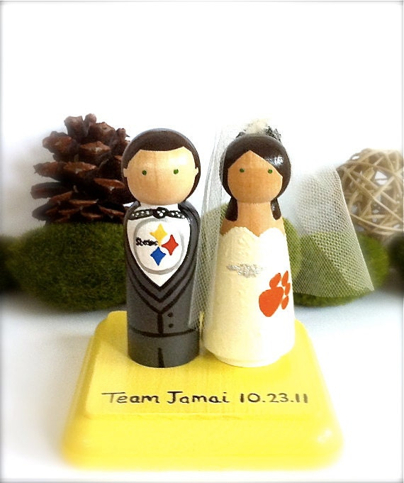 Nfl Themed Wedding Cake Toppers