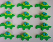 Fondant Cupcake and Cookie Toppers Edible Turtles - cookiecovers