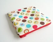 Snack & Sandwich Bag - Retro Fruit Dots in Red - blota