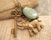 Key to Africa Safari. a charm necklace - trinketsforkeeps