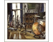Miner Street Live Room print of an original painting - minorsaint