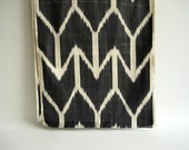 Sukan / Handwoven ikat Silk Scarf, ikat scarf, Ikat Scarves, Ikat Shawl, Modern, Bohemian, Organic,Gray, Dark Gray, Beige Color