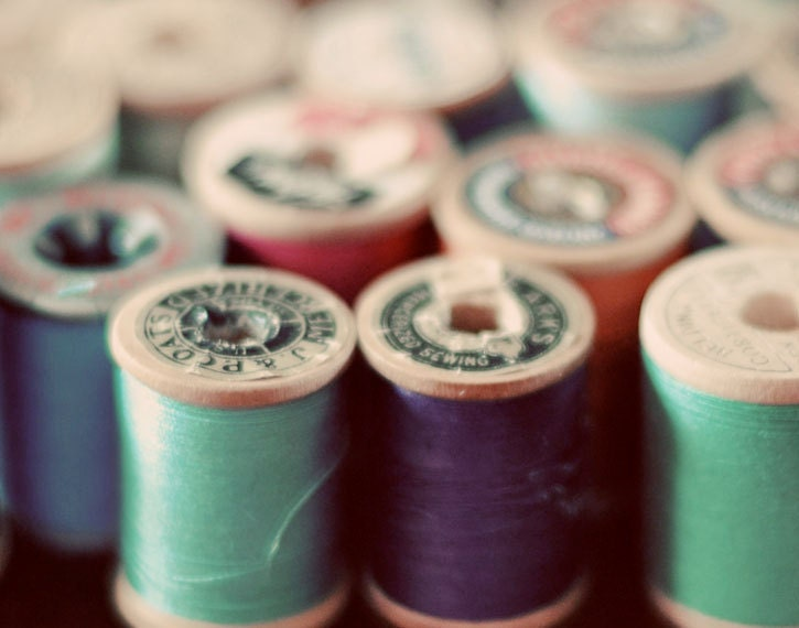 Still LIfe Photography Sewing Photograph Spools by birdandbloke