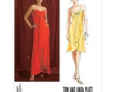 Vogue Dress Pattern v2847 - TOM and LINDA PLATT - Long or Short Dress -  Sizes 18/20/22