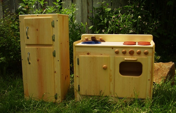 Wooden Play Kitchen & Fridge SET by Heartwood Natural Toys