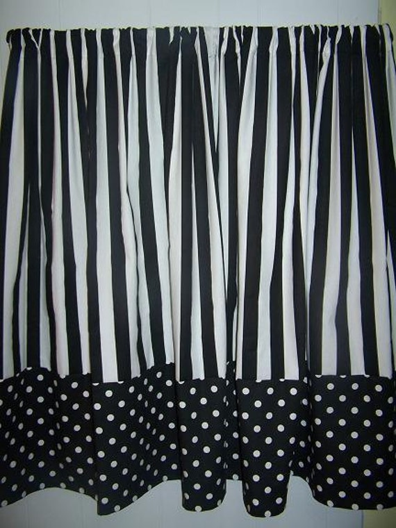 White And Black Polka Dot Curtain
