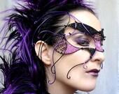 Cyber goth masquerade mask, handmade - gringrimaceandsqueak