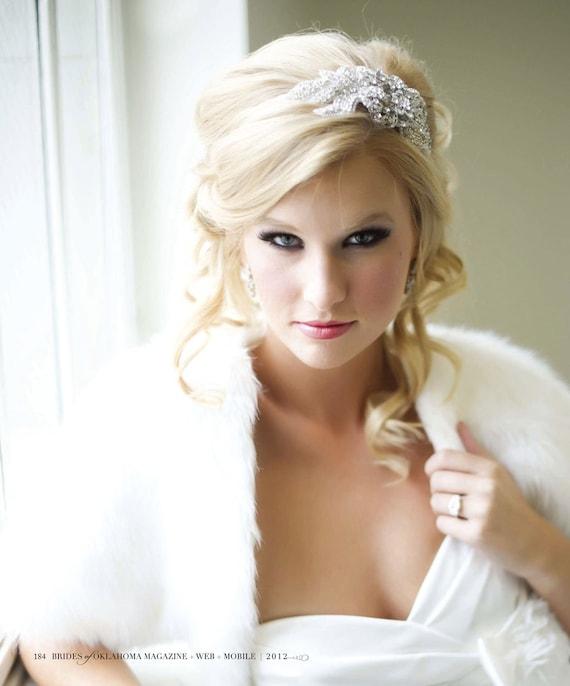 Couture Fur Bridal Bolero Shrug - As SEEN in the Brides of OK Magazine ELLA is a faux fur bolero, jacket or shrug