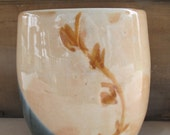 Green and Peach Vase - NewProspectPottery