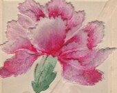 Antique Easter Greetings Postcard Used Embossed and Flocked Early 1900s (fpc278)