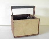 Vintage Wood Carry Tote Tool Caddy