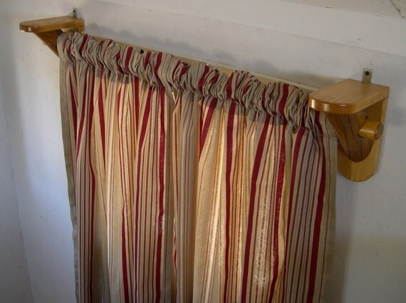 Rustic log curtain rod support brackets cabin decor for Log cabin window treatments