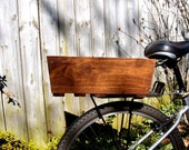 Wooden bike basket