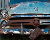 Blue Vintage Car 8  x 10 Fine Art Photography - Squintphotography