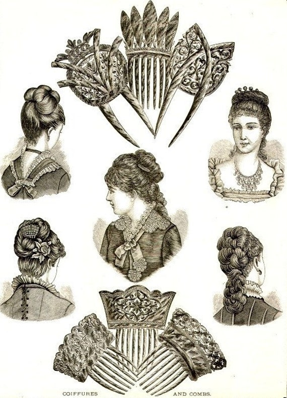 how to wear antique hair combs newsprint