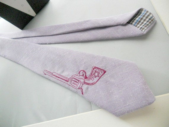 BANG BANG Necktie in Purple-Handmade by The Neck Tie Reformatory