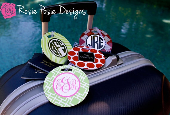 Personalized Luggage Tags Set of 2 Design Your Own