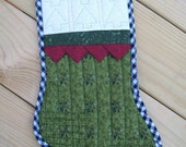 Quilted Christmas Stocking - quiltsbyjessica