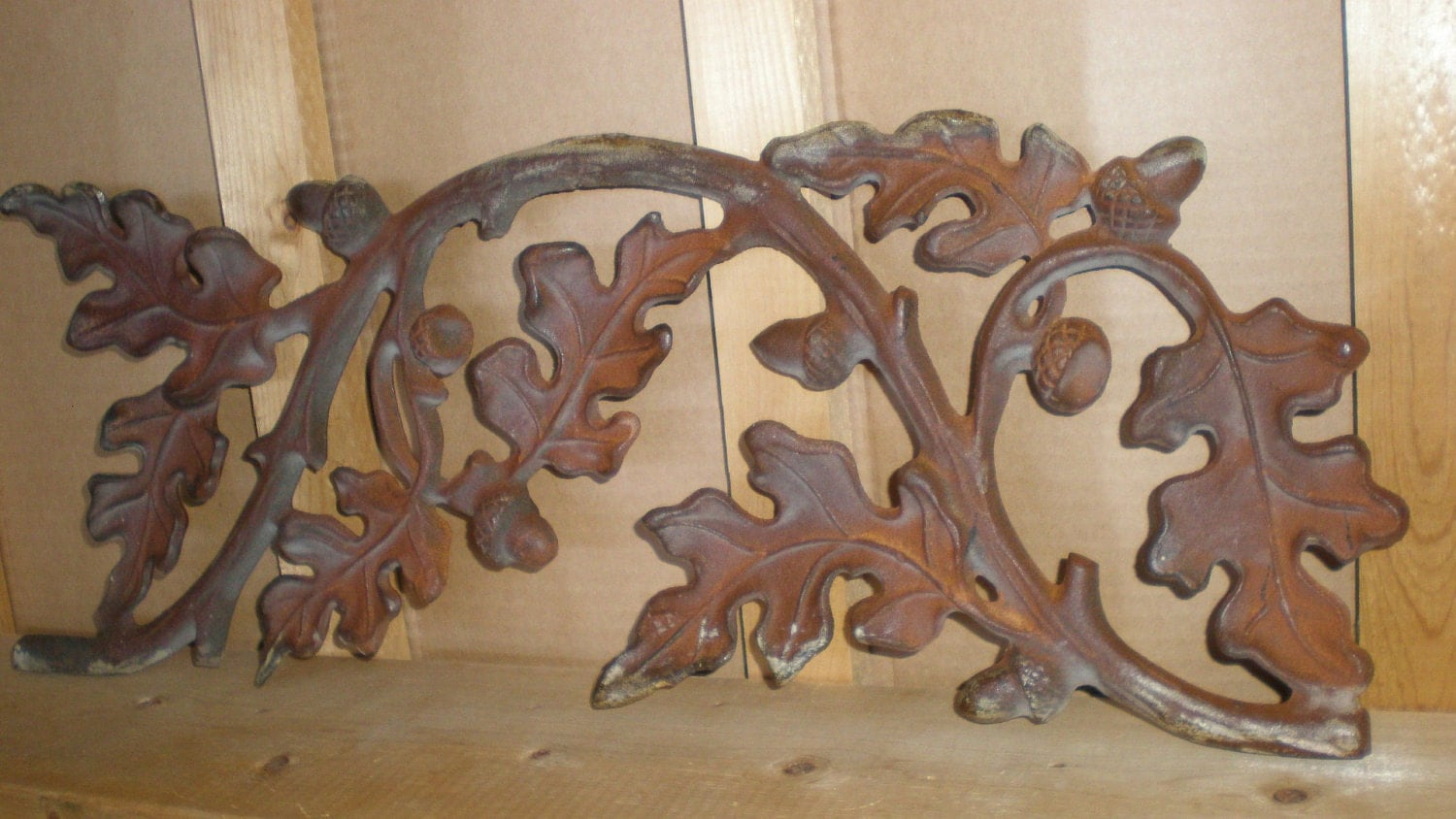 Salvaged Architectural Panel Oak Leaf and Acorn by myclosetshelf