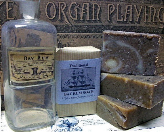 BAY RUM Soap Handcrafted Spicey Scent Great STOCKING Stuffer