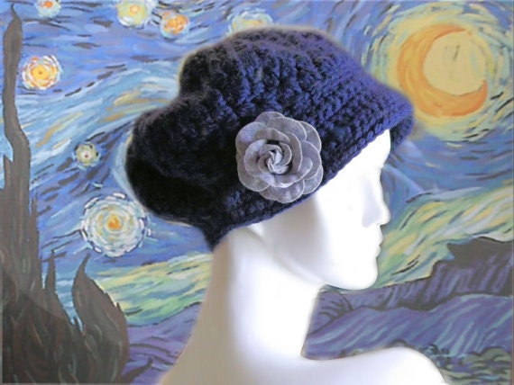 Starry Night Bonnet Crochet Hat Pattern PDF