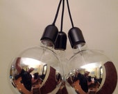 3 Silver Globed Pendant Lighting - Made to Order - MrMester