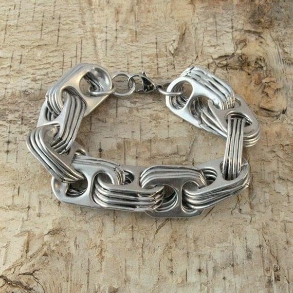 pop tab bracelet - crosslink - wirst size 7 1/2 inch