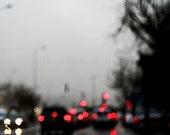 Bokeh Rain drops, rain, bokeh photography,rainy day, red, grey, black - thecoloursoflife