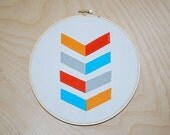 Chevron Mix Up. Embroidery Hoop Art