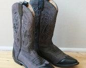 Going to the Rodeo Mauve Cowboy Boots - Men's 8/8.5 Women's 10/10.5 - urbandames