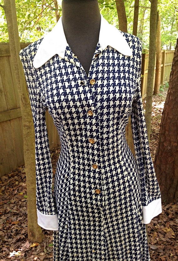 houndstooth vintage dress