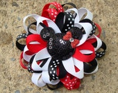 Disney Hair Bow Loopy hair bow Minnie Mouse Hair Bow hair clip