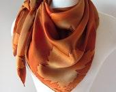 Autumn Maple Leaves hand painted silk scarf square - MADE TO ORDER - joyinmystudio
