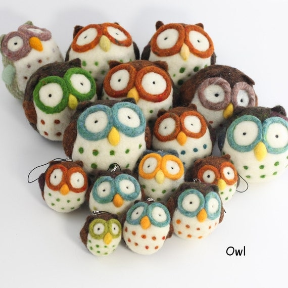 Needle felting Owl kit