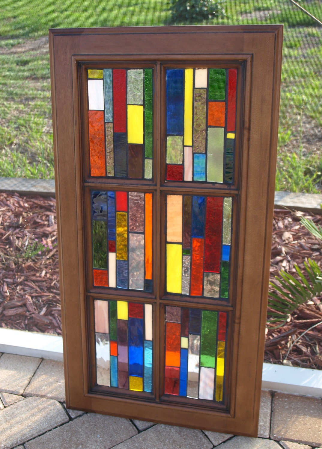 Google Image Result For Http Img3 Etsystatic Com 000 0 5887550 Il Fullxfull 337317175 Stained Glass Mosaic Window Stained Glass Cabinets Stained Glass Mosaic